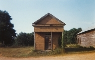 William Christenberry, Building with False Brick siding, Warsaw, Alabama, 1974
