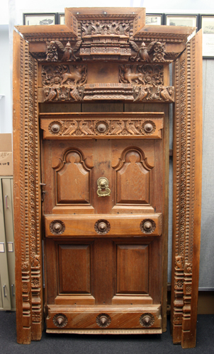 Over twenty years ago I came to possess a doorway to a Hindu temple which is now on display in the Architectural History faculty office in the basement of ... & A Hindu Temple Door at Eichberg Hall | Exploring the Built Environment