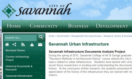 Savannah archives website framecapture