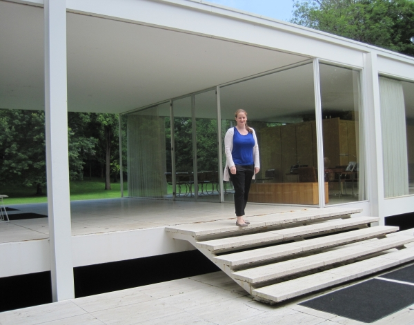 Author at the Farnsworth House