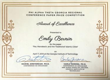 Emily Bernin award
